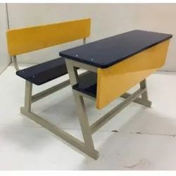 Polished 2 Seater School Desk