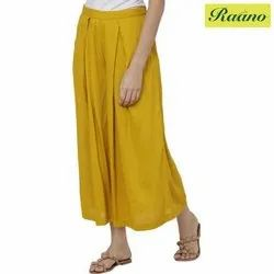 Relaxed Women Yellow Trousers