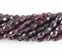 Garnet Faceted Oval Shape Beads
