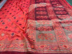Two Tone Banarasi Silk Saree
