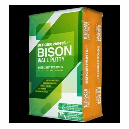 White Wall Coating Berger Paints Bison Wall Putty, Packing: also available in 1 and 20 kg