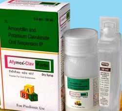 Amoxycillin 400mg   Clavulanic Acid 57mg/5ml DRY SYRUP