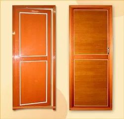 Hinged Polished 95x35 Mm Solid Pvc Door, For Home