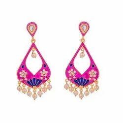 Designer Meenakari Pearl Earring