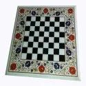 White Marble Inlaid Table Top