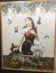 Welcome Lady Picture Wall Tiles