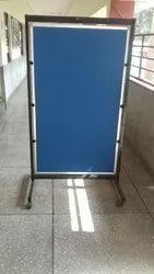Notice Board Stand With Wheel