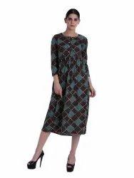 Women Printed  High-Waist Dress