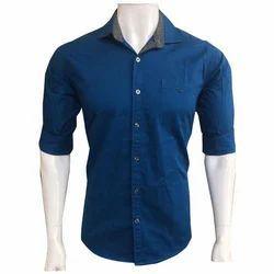 Panwood Blue Full Sleeve Plain Shirts, Size: M to 4XL