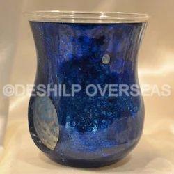 Blue Silver Aroma Oil Burner