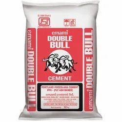 Emami Double Bull Portland Pozzolana Cement, Packaging Type: PP Sack Bag