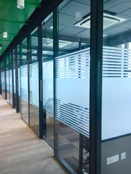 Modular Aluminum Double Glass Partition System