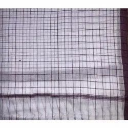 White Check Cotton Gamcha, For Bathroom, Size: 16x28 Inches