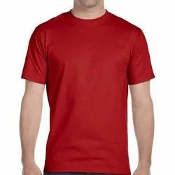 Polyester Half Sleeves Men's Round Neck Dri Fit T Shirt, Packaging Type: Packet