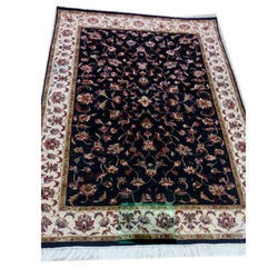 Multicolor Embroidered Persian Wool Carpet, Size: 4*6 Feet