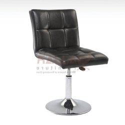 Gajjar Furniture Stainless Steel Leather Black Stool For Bar, Warranty: 1 Year