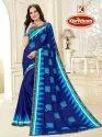 Printed Embroidered Swarovski Work Silk Crepe Saree - Saanvi-02