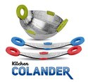 Stainless Steel  Collapsible Colander Strainer and Fruit Basket
