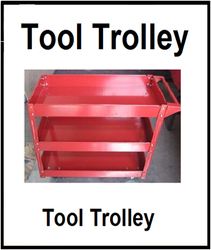 SOLUTIONS PACKAGING Red Three Layers Tools Trolley