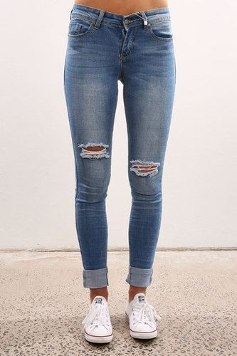 fb09216cbad23b Comfort Stretchable Ladies Ripped Jeans, Waist Size: 26 | ID ...