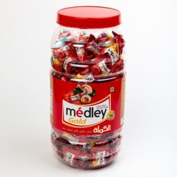 Dello Filled Center Medly Gold Caramel Candy, Packaging Size: 650 To 765 G, Packaging Type: Packet