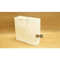 9x9x3 White Paper Bag