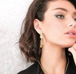 Gold Filled Women Statement Stud Earrings