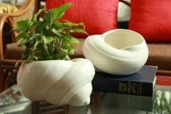 Ceramic Shankh Planter