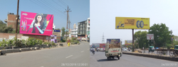 Red Unipole Hoarding Hoarding/Unipole Advertising