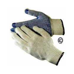Full Fingered Heavy Quality Cotton Dotted Gloves