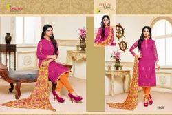 Collar Neck Khwaish Salwar Suit Fabric