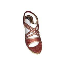 Party Wear Suede Ladies Fancy Designer Sandal, Size: 6 To 11