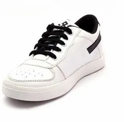 Synthetic, Fabric Black, White Fancy Kids Casual Shoes, Size: 2-5