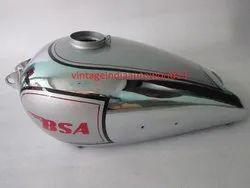 New BSA M20 Silver Painted Chrome Petrol Tank Civil Model