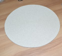 White Round Place Mats