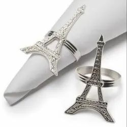 Eiffel Tower Shape Aluminum Napkin Ring