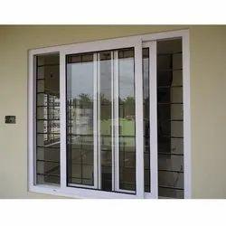 White UPVC Sliding Window