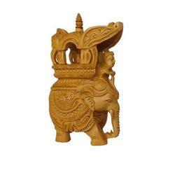 Wooden Ambawadi Elephant Statue