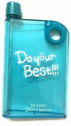 Made From Premium Quality Plastic And Light Weight Grippy Do Your Best Notebook Water Bottle, Capacity: 380 ML