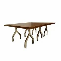 Rectangular Powder Coated Stainless Steel Dining Table