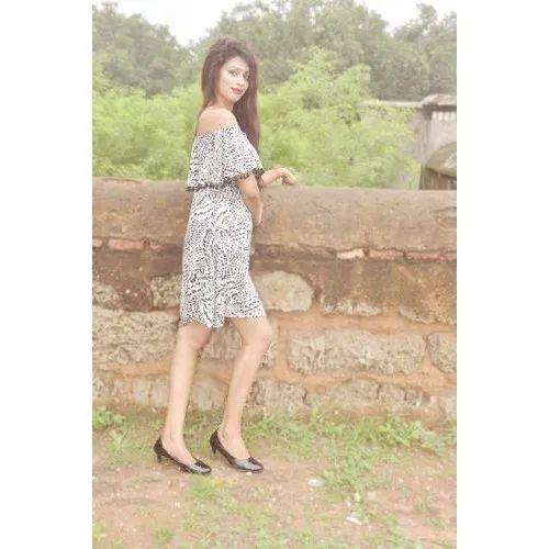 052a574939e0 Georgette Casual Wear Women Off Shoulder Western Dress