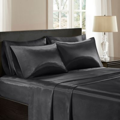 Awesome Craftola Black Satin Bed Sheets