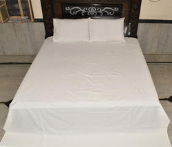 Indian White Cotton Bed Sheet Set