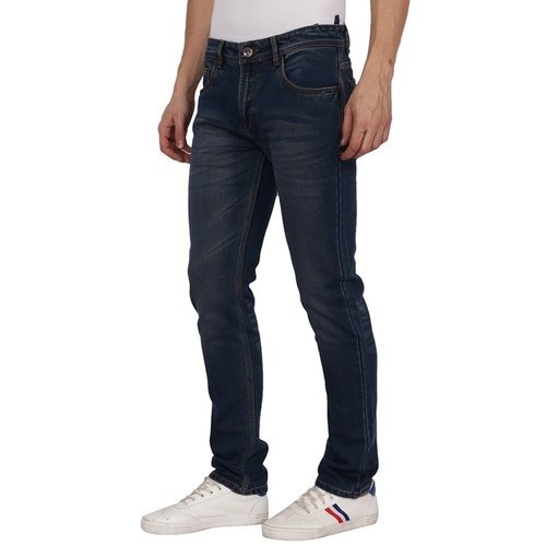 de8440a5 Zara Mens Dark Blue Cotton Jeans