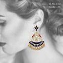 Designer Chandbali Meenakari Earrings