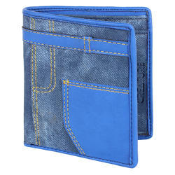 Creature Mens Blue Leather Wallet