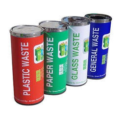 Plastic Waste SS Dustbin
