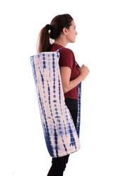 Tie Dye Shibori Indigo Blue Cotton Yoga Bag