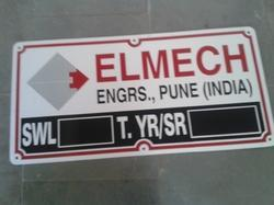 Aluminum  Etched and Painted Name Plates