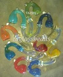 Standing Coloured Glass Smoking Sherlock Pipe